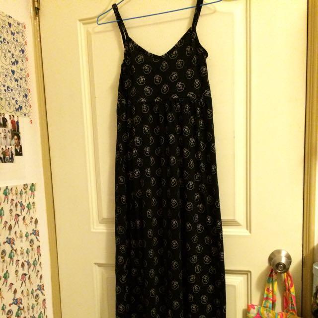 W C原單黑色細肩帶長裙