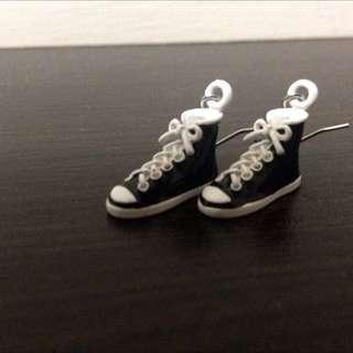 「全新」帆布鞋耳環