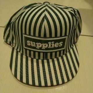 (降)條紋棒球帽