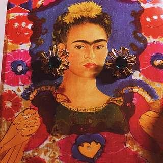 芙烈達·卡蘿 復古古董夾式耳環
