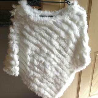 Beautiful 100%furr Poncho/jumper