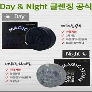 韓國April Skin Magic Stone保濕黑竹炭潔顏皂(日用)