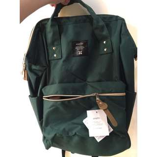 (現貨+預購)日本同步原廠原單超大容量ANELLO 媽媽包 後背包 *素色綠色