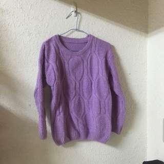 全新紫色毛衣