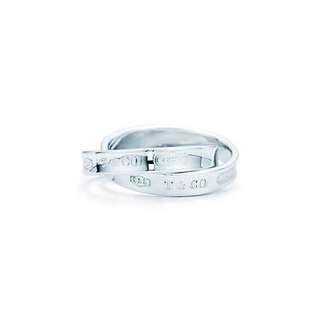 【徵收】Tiffany & Co. 經典 1837 雙圈 雙環 鎖環 6 6.5 7