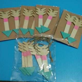木製箭頭 吊牌