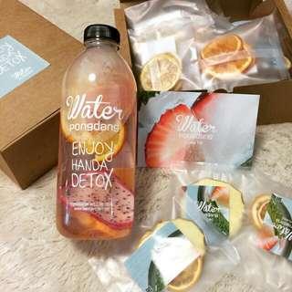 韓國正品PongDang Water隨行隨手冷水瓶天然營養健康排毒水果茶 健康 排毒 一公升