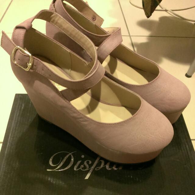 (降)Dispanr厚底粉色芭蕾鞋