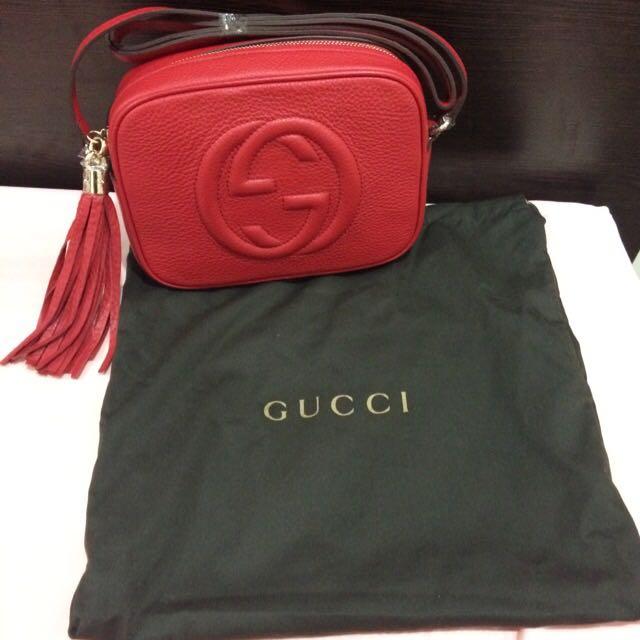 全新 正品 Gucci Disco 紅色