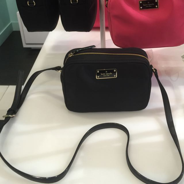 Kate Spade Black Blake Avenue Mindy Nylon Sling Crossbody Bag 100 Authentic Brand New Luxury On Carou