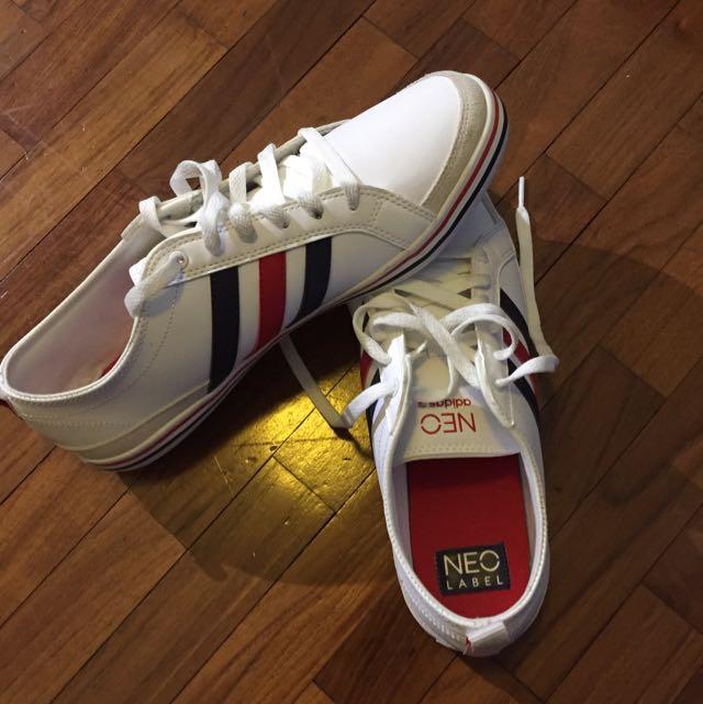 Adidas Neo White Shoe US Size 11 Blue
