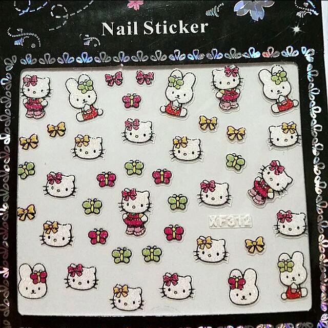 Bn 3d Shimmering Hello Kitty Melody Nail Art Nail Stickers High
