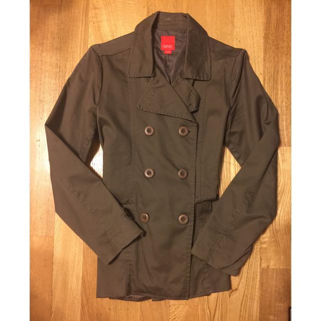 二手👉🏻Esppit 軍綠色雙排扣大衣