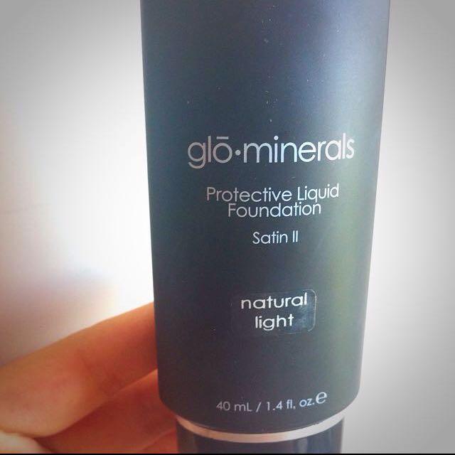 9.5成新美國gloMineral 葛羅氏礦彩粉底液 自然色