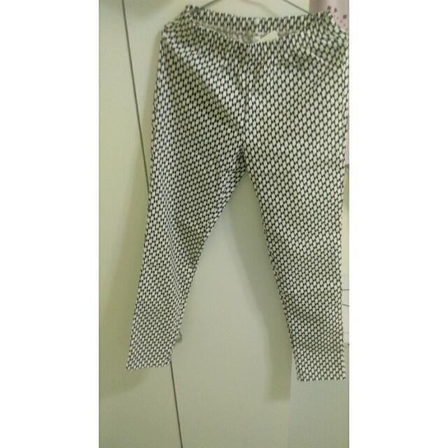Lativ·印花窄管褲(菱格)