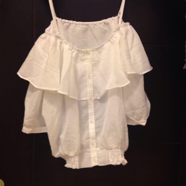 (降價)日本服飾品牌Lowers Farm紗麻荷葉