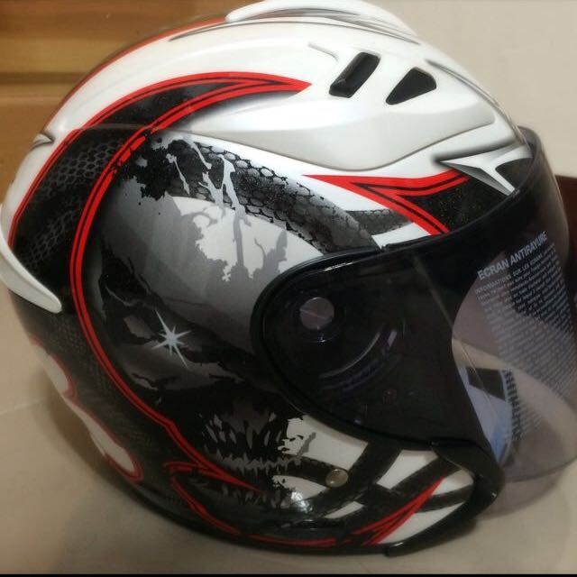 M2R J2 蛇王【白紅】 安全帽內襯可拆 喜歡價錢可小議 尺寸:L