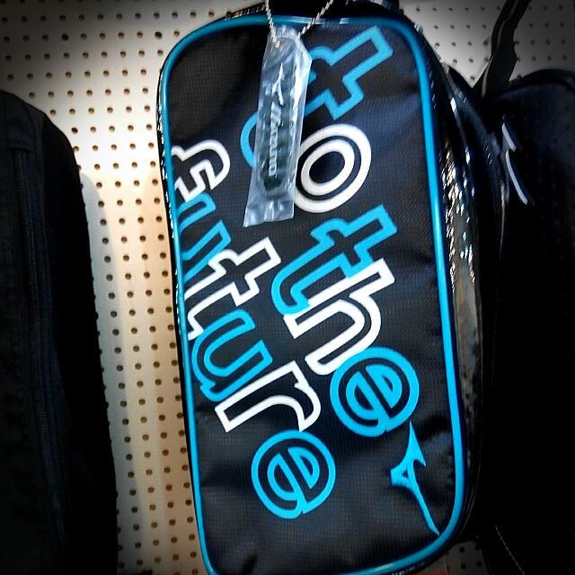 美津濃mizuno(正品) 鞋袋 運動袋 袋子 藍黑