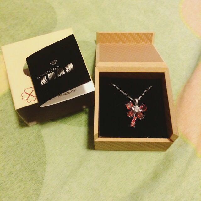 New 星晴晶鑽蜻蜓項鍊