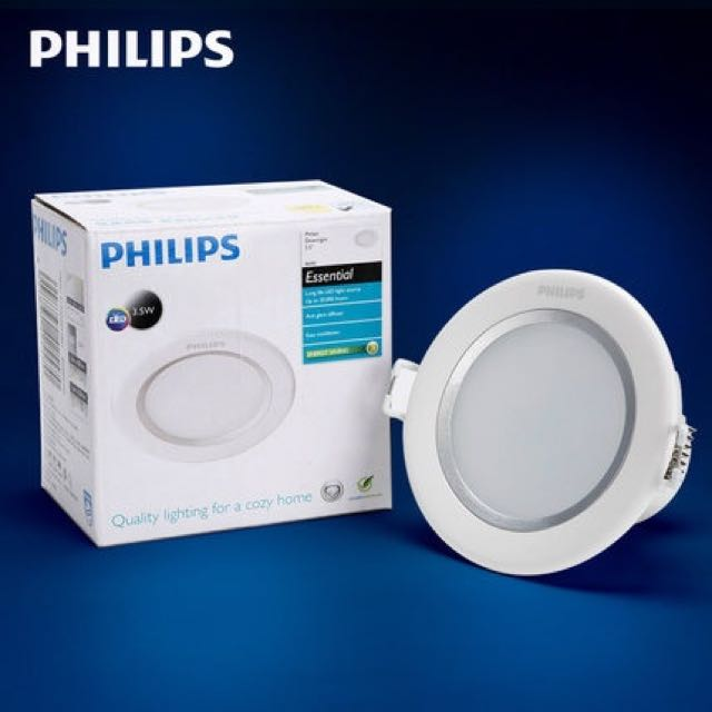 Philips Led Ceiling Downlight 8w White 6500k Warmlight