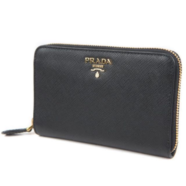 prada portafoglio lampo wallet nero