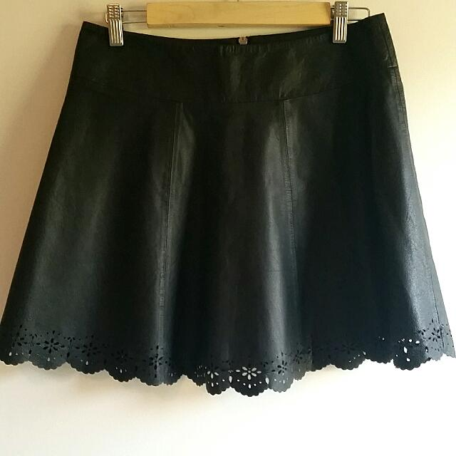 Real Leather Skirt Size 10