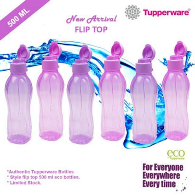 Tupperware Flip Top Caps water Bottle