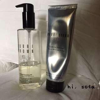 Bobbi Brown茉莉沁透淨妝油+潔膚洗面乳