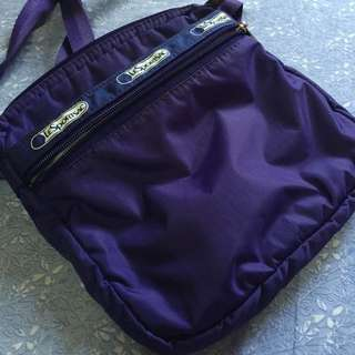 Authentic Lesportsac Purple Square Sling Bag (reserved)