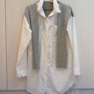 (保留中)寬鬆長版襯衫