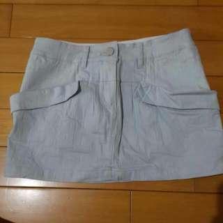 淺藍色短裙(全新,韓製)