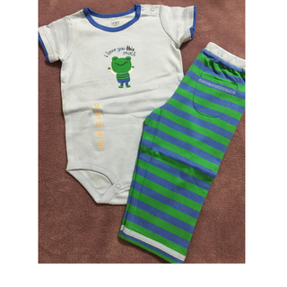 Carter's 可愛青蛙包屁衣長褲 2件套組 12M