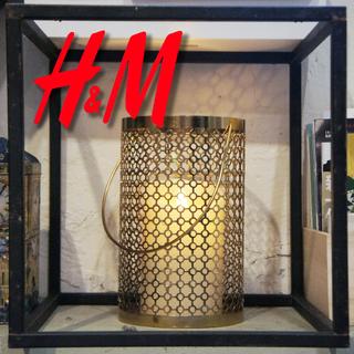 H&M home限量金屬燭台,可手提弔掛,原價599限量350只有一個