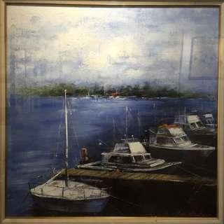 韋啟義 油畫 航海夢 50號