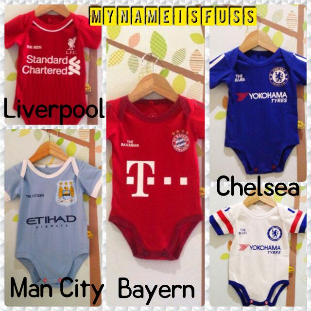 21911866d72 Clearance Sale 15/16 Chelsea Liverpool Manchester United Arsenal Barcelona  Real Madrid Baby Romper Newborn, Babies & Kids on Carousell