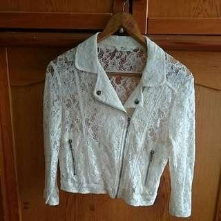 全新NET蕾絲短外套外套