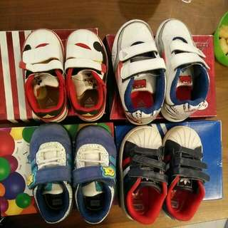 Adidas Boy Shoes - All Barely Worn -left Winnie The Pooh :)