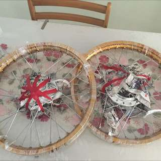 Excel Rim Size 18. Rxz Hub And Spork All New. Gold Colour