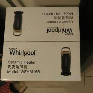 全新 Whirlpool 惠而浦 超廣角機械式陶瓷 電暖器 (WFHM15B)