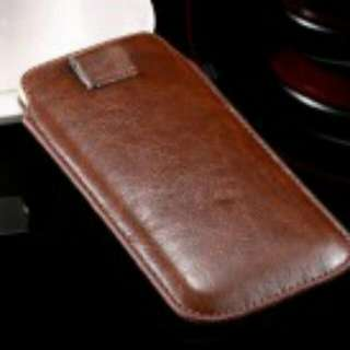 iPhone 6 Plus Leather Cover Brown Leather case or Universal Case iPhone Samsung Oppo Asus Mi Smartphone Leather Cover Violet