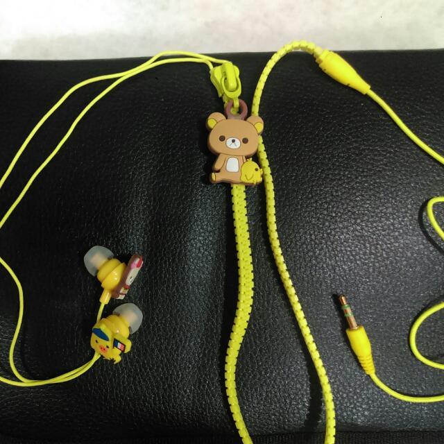 拉拉熊立體拉鏈耳機