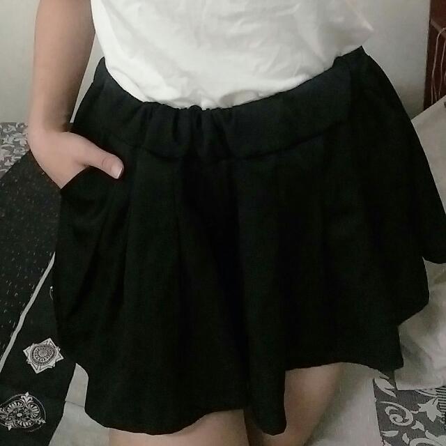 俐落口袋褲裙