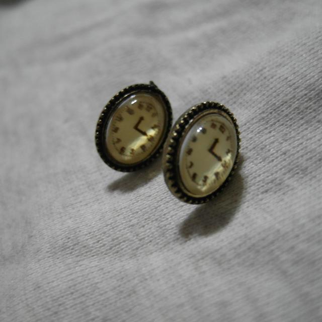 [二手]復古風時鐘耳環