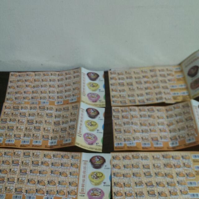 【保留中】蛋黃哥集點點數 六張 250 兩張可免費換