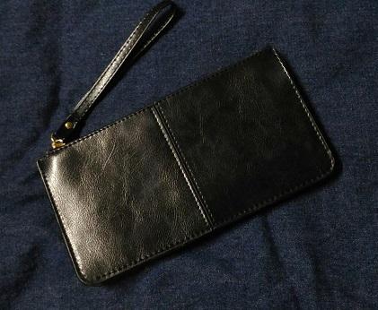 [二手] 真皮多功能錢包 手拿包 皮夾 長夾 近全新 含運