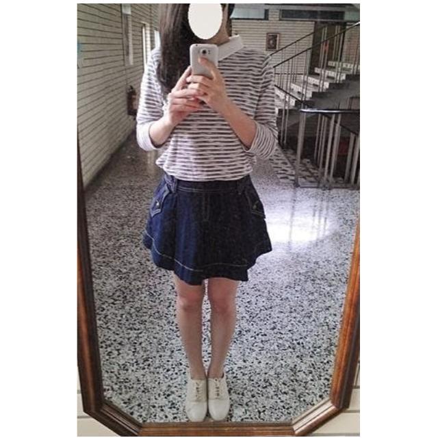 全新 RoseBullet 牛仔裙.圓裙.太陽裙(深藍色)
