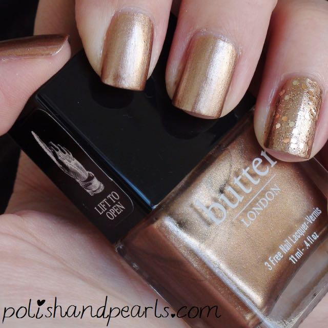 Butter London the old bill 指甲油  玫瑰金 全新