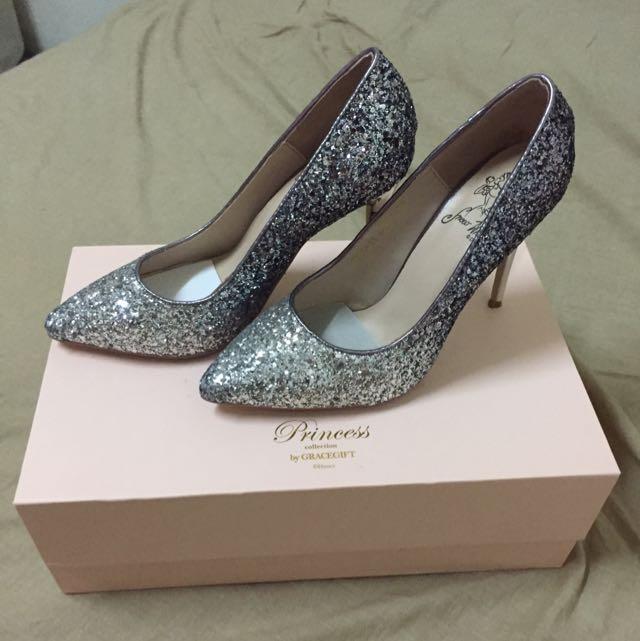 降價囉✨grace gift - 白雪公主漸層碎石跟鞋 38號