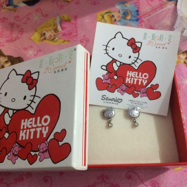 甜蜜約定純鋼Kitty耳環