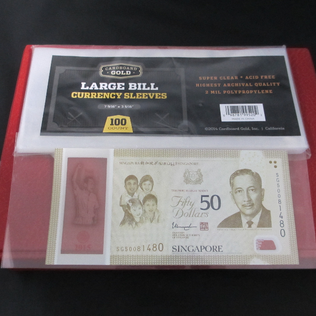 Large Sleeve for Banknote (currency) protecton : Cardboard